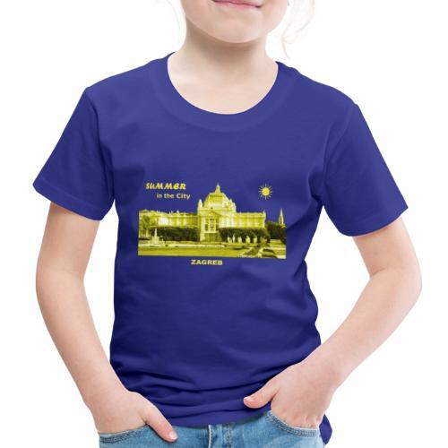 Sommer Zagreb Kroatien Istrien Nationaltheater - Kinder Premium T-Shirt