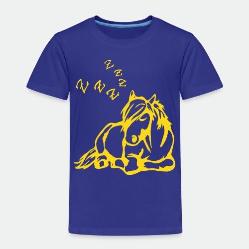 ZZZ Schlafendes Pferd - Kids' Premium T-Shirt