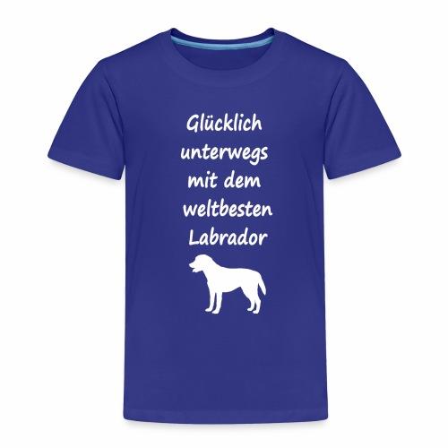 Glücklich unterwegs mit dem weltbesten Labrador - Kinder Premium T-Shirt