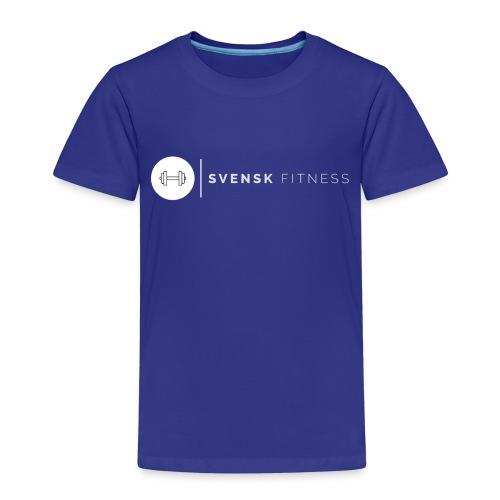 Vit vertikal logo dam - Premium-T-shirt barn