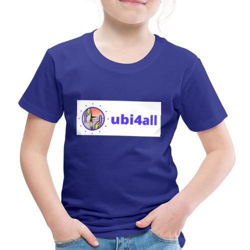 ubi4all horizontal blue - Kinderen Premium T-shirt