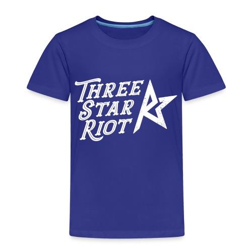 Three Star Riot logo vaalea - Lasten premium t-paita