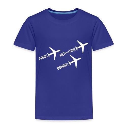 3 voyages avion white - T-shirt Premium Enfant