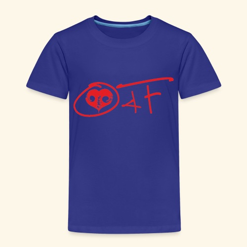 O4F ROSSO - Maglietta Premium per bambini