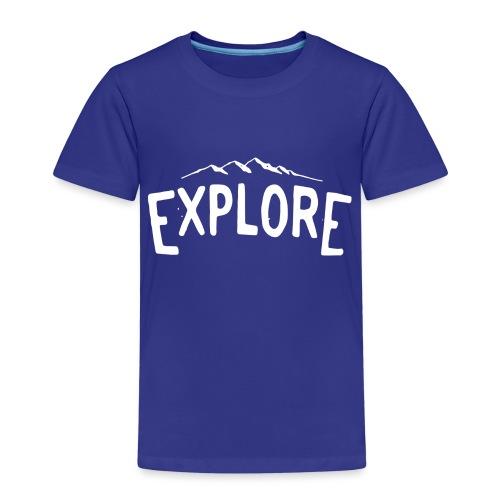 explore white png - Maglietta Premium per bambini