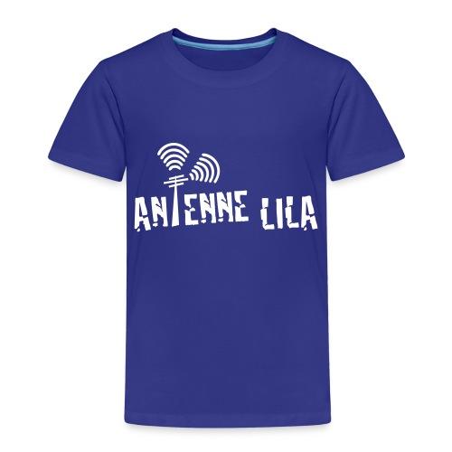 logo quer weiss 1c - Kinder Premium T-Shirt