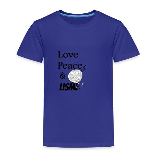 Love Peace & Lisme - Kinder Premium T-Shirt