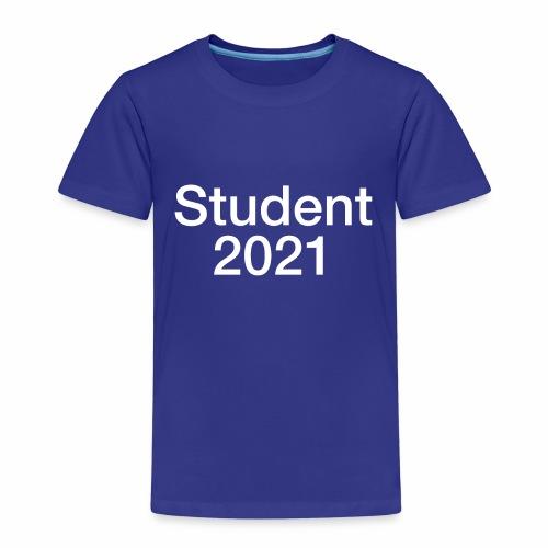 Student 2021 - hvidt tryk - Børne premium T-shirt