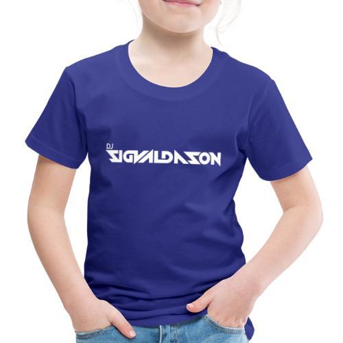 DJ logo hvid - Børne premium T-shirt