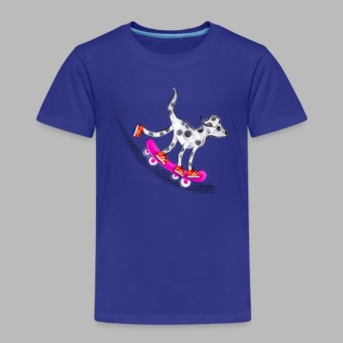 Spotty Skateboarder - Kids' Premium T-Shirt