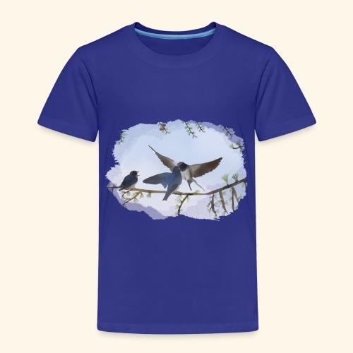 20 a Schwalben draußen.png - Kinder Premium T-Shirt