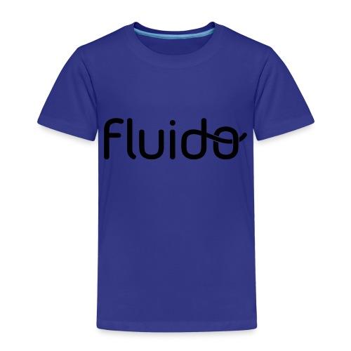 fluidologo_musta - Lasten premium t-paita