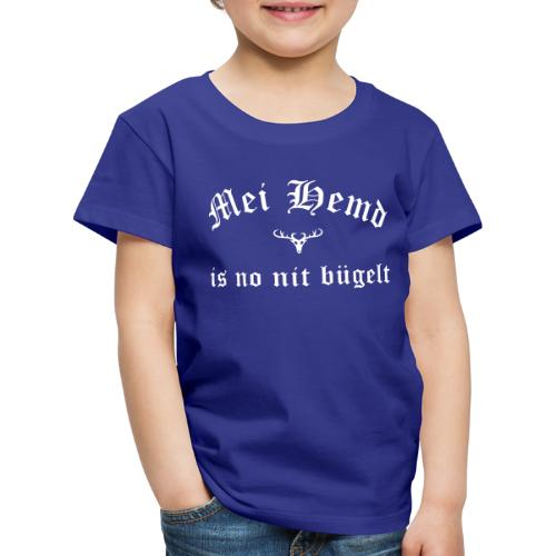 Mei Hemd is no nit bügelt - Hirsch - Kinder Premium T-Shirt