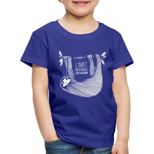Le paresseux, animal, limit nervous breakdown - T-shirt Premium Enfant