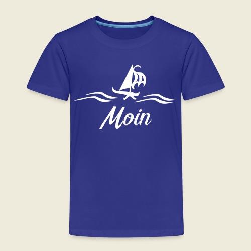 Moin mit Schiff in weiß - Kinder Premium T-Shirt