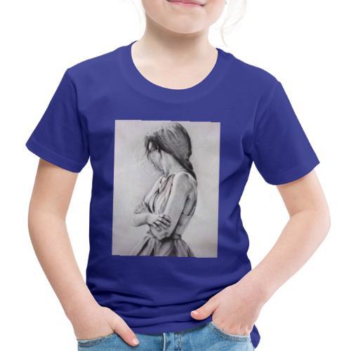 Dame portret - Kinder Premium T-Shirt