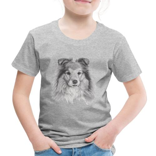 shetland sheepdog sheltie - Børne premium T-shirt