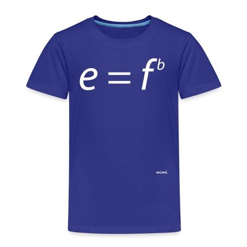 Einstein für Musiker (weiß) - Camiseta premium niño