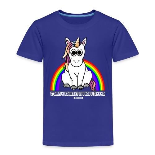 Einhorn Tekkno Regenbogen - Kinder Premium T-Shirt