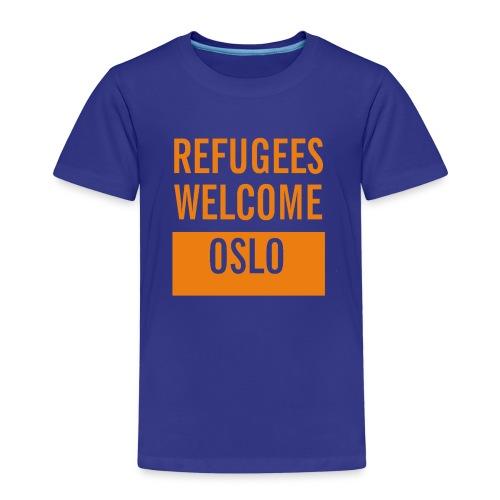Refugees Welcome Oslo - Premium T-skjorte for barn