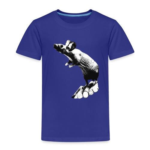 Seisova nakuhiiri - mustavalko - Lasten premium t-paita