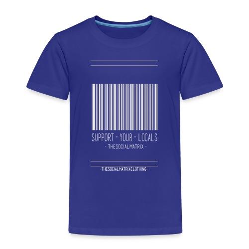 STEUN JE PLAATSELIJKE [WIT] - Kinderen Premium T-shirt