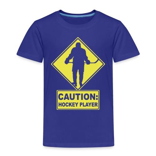 CAUTION: Hockey Player - Kids' Premium T-Shirt