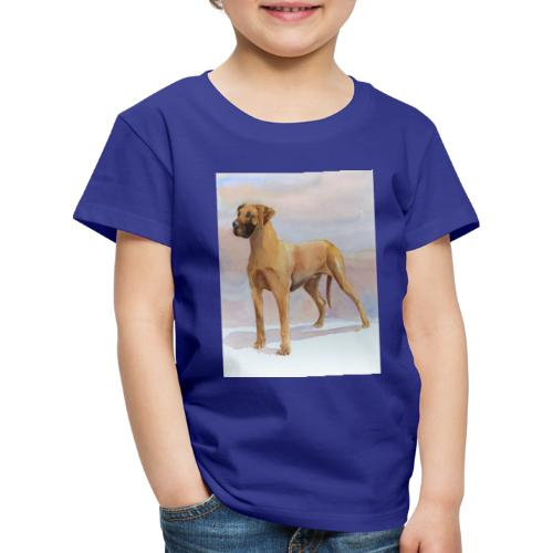 Great Dane Yellow - Børne premium T-shirt