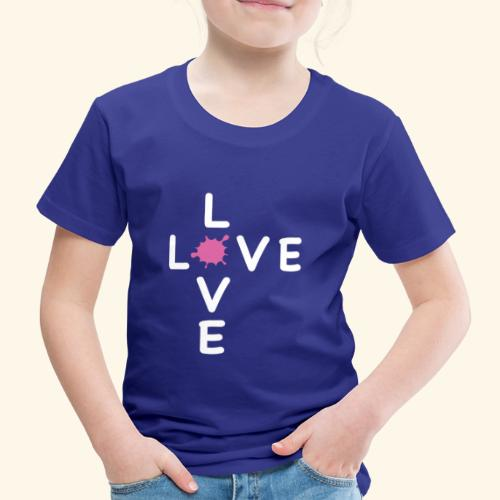 LOVE Cross white klecks pink 001 - Kinder Premium T-Shirt