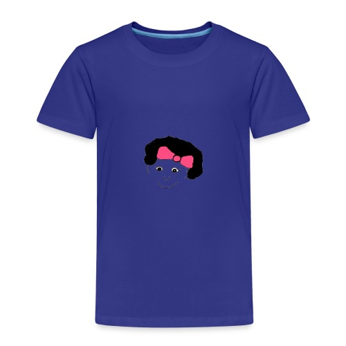 Girl with a bow in her hair - Kids' Premium T-Shirt