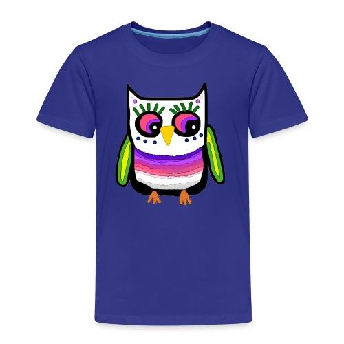 Colorful owl - Kids' Premium T-Shirt