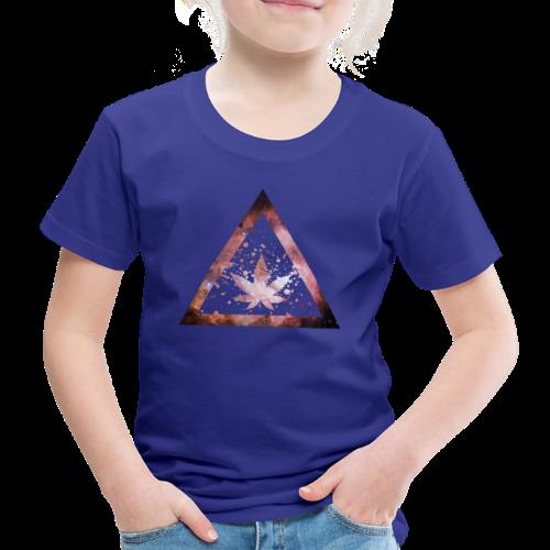 Galaxy Weed Marijuana Triangle Splashes - Kinder Premium T-Shirt