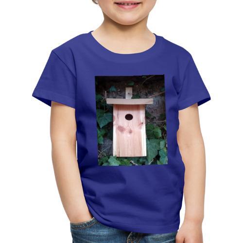 Der Nistkasten - Luxus für den Garten-Vogel - Kinder Premium T-Shirt