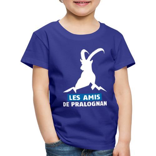 Logo Les Amis de Pralo grand blanc - T-shirt Premium Enfant