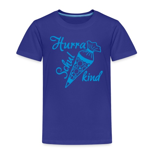 Hurra Schulkind - Schultuete, Schulanfang - Kinder Premium T-Shirt
