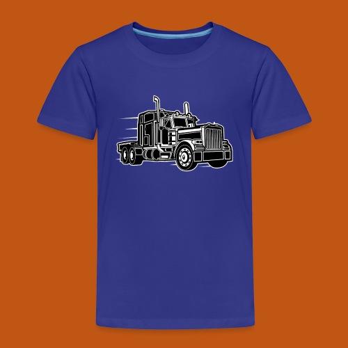 Truck / Lkw 03_schwarz weiß - Kinder Premium T-Shirt