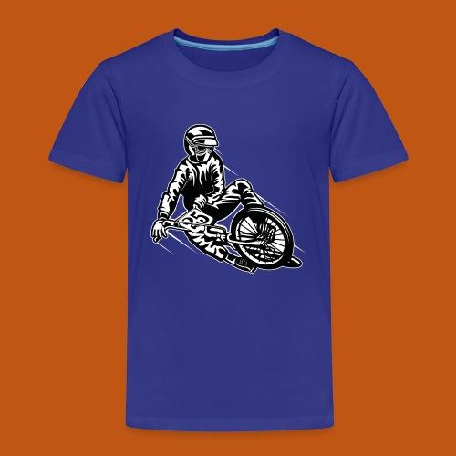 BMX / Mountain Biker 03_schwarz weiß - Kinder Premium T-Shirt