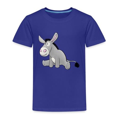 Esel - Kuschelesel sitzend - Kinder Premium T-Shirt