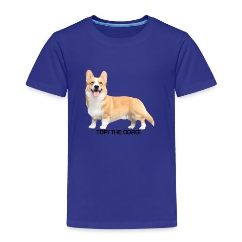 Topi the Corgi - Black text - Kids' Premium T-Shirt