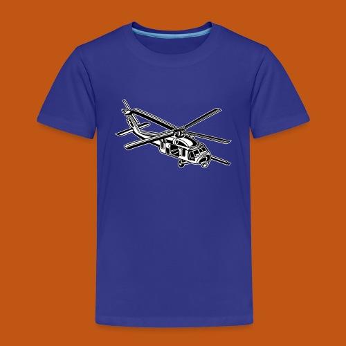 Hubschrauber / Helikopter 01_schwarz weiß - Kinder Premium T-Shirt