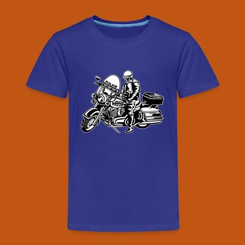 Motorradpolizei / Motorcycle Police 1_schwarz weiß - Kinder Premium T-Shirt