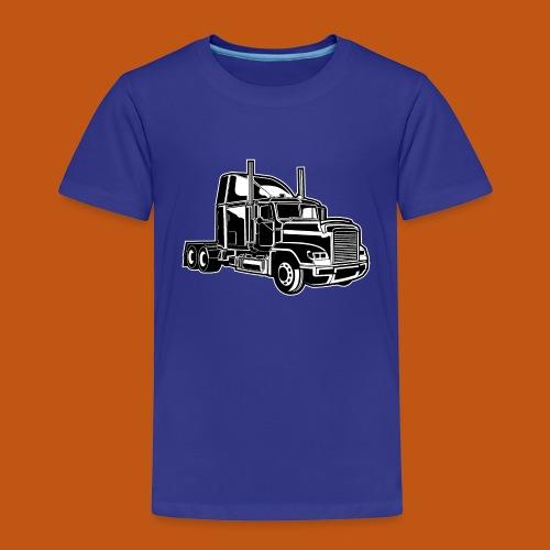 Truck / Lkw 02_schwarz weiß - Kinder Premium T-Shirt