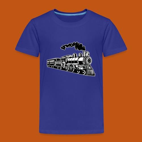 Lokomotive / Locomotive 02_schwarz weiß - Kinder Premium T-Shirt