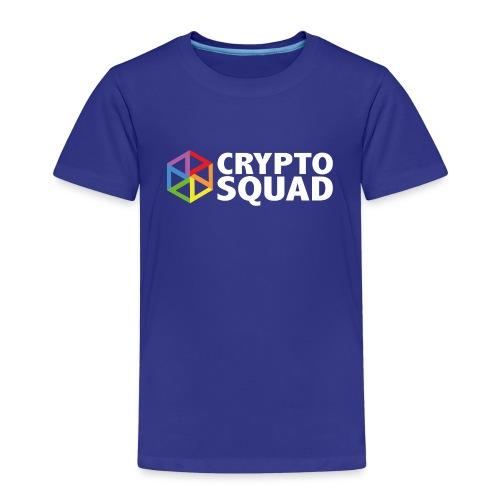 Crypto Squad Large Logo (white) - Kids' Premium T-Shirt
