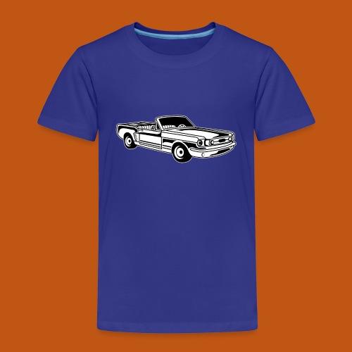 Cabrio / Muscle Car 02_schwarz weiß - Kinder Premium T-Shirt
