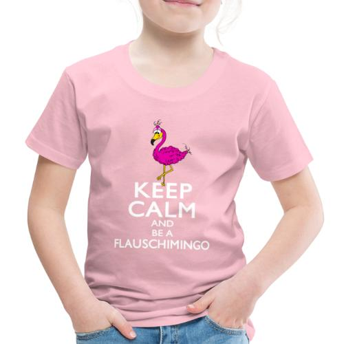 Keep calm and be a Flauschimingo - Kinder Premium T-Shirt