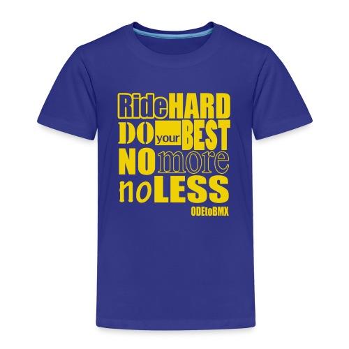 ridehard yellow - Kids' Premium T-Shirt