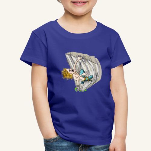 Überhang Klettern - Kinder Premium T-Shirt