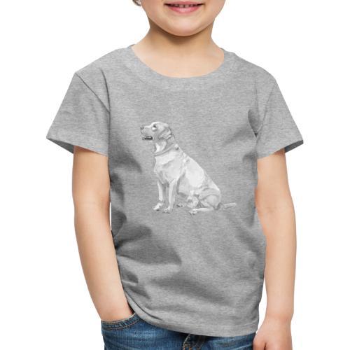 labrador Retriever Yellow - Ink - Børne premium T-shirt