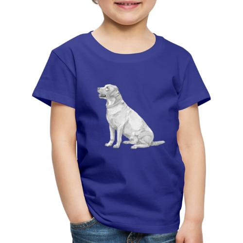 labrador Retriever Yellow sit - Børne premium T-shirt